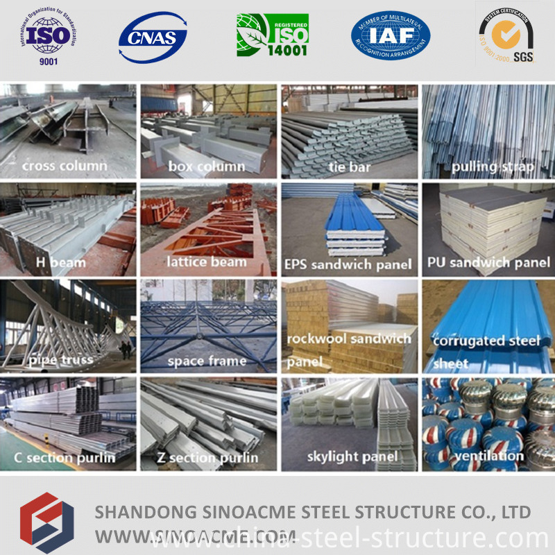 Prefabricated Multi Span Steel Structure Workshop