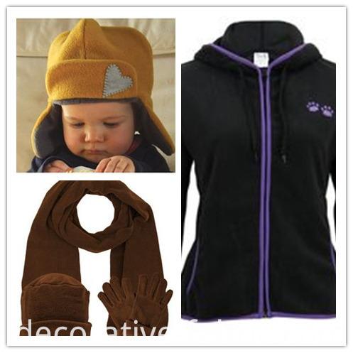 Embossed Sweatshirt Polar Fleece Fabric for Hats/Scarf/Garment
