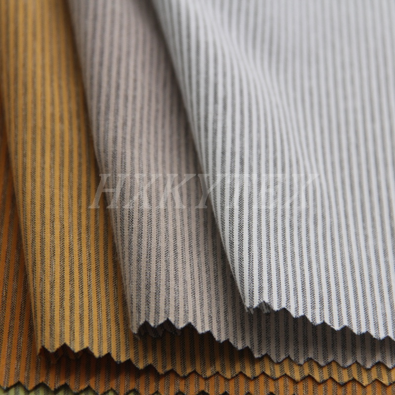 Polyester and Cotton Fabric with Stripe Pattern for Shirt