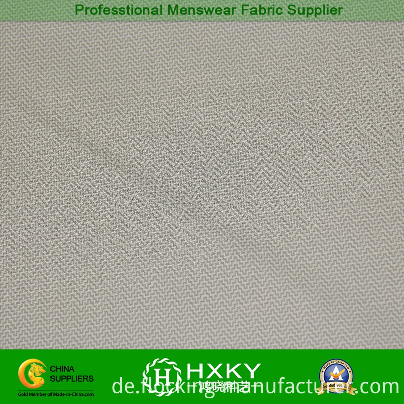 Compound Polyester Fabric with Wave Type Dobby for Men's Outerwear