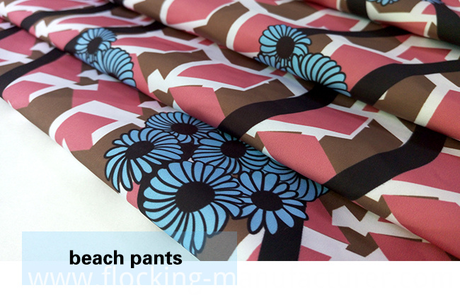 Polyester Brushed Printed Fabric for Beach Shorts, Pants, Cacual Wears