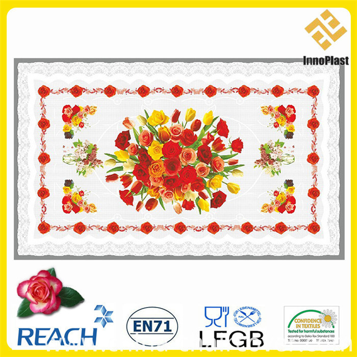 Plastic Transparent Table Cover for Home/Party/Wedding Decoration