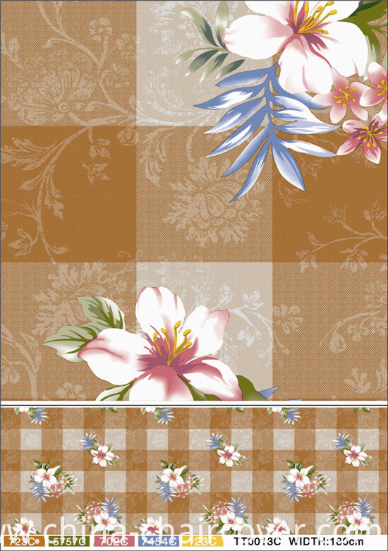 137 Cm Vinyl PVC Printed Transparent Tablecloth Full Color in Roll