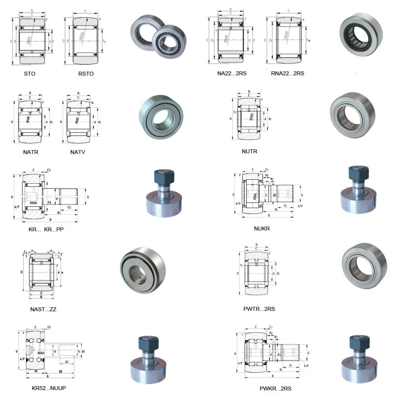 Track Roller Bearing Cam Follower CF30 Kr80