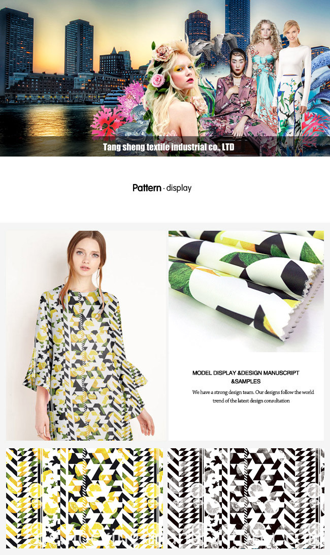 Digital Printed Polyester Satin Twill Fabric for Dress, Skirt, Tops