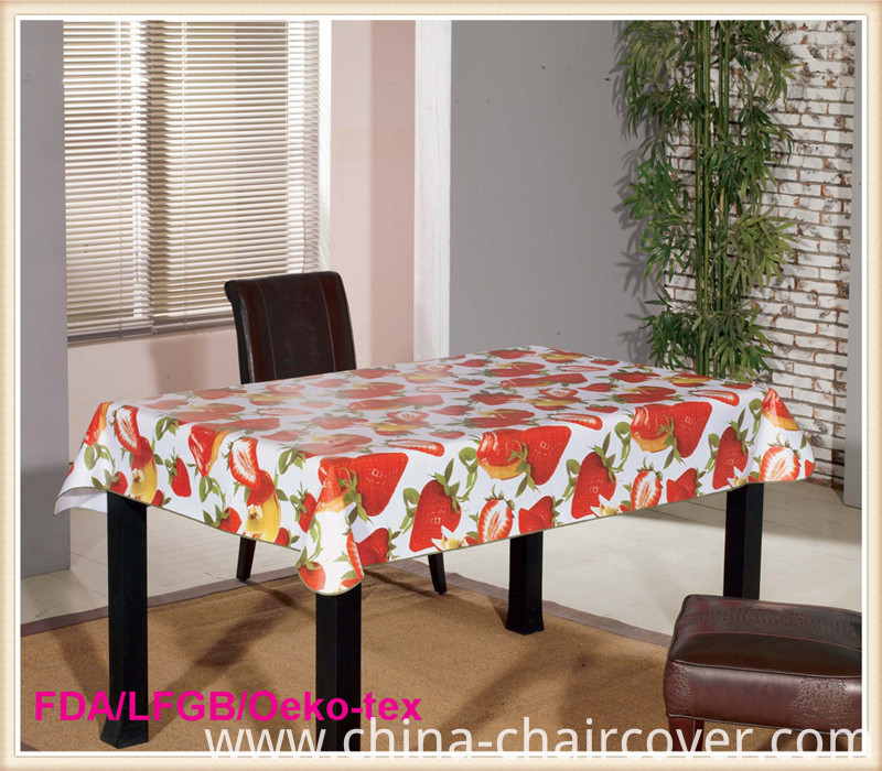 PVC Tablecloth Overlay for Party/Banquet/Coffee Table Use