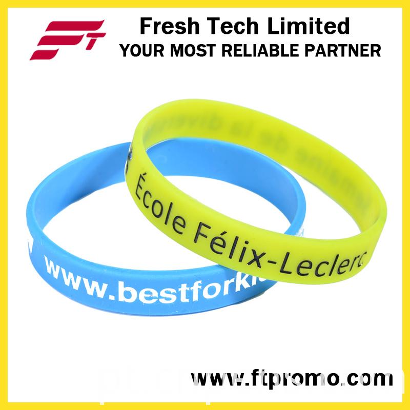 Professional OEM Promotional Gift Silicone Wristband