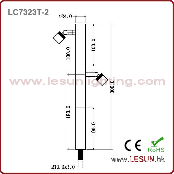 Rotating 2W LED Cabinet Light/Showcase Light LC7323t-2