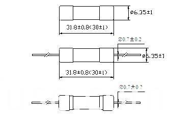 Hbc Tube Fuse Time-Lag Axial Lead 6.3 X 30 mm