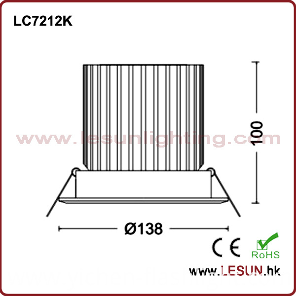 Factory Price 36W Recessed LED Down Light for Fashion Shop LC7212k