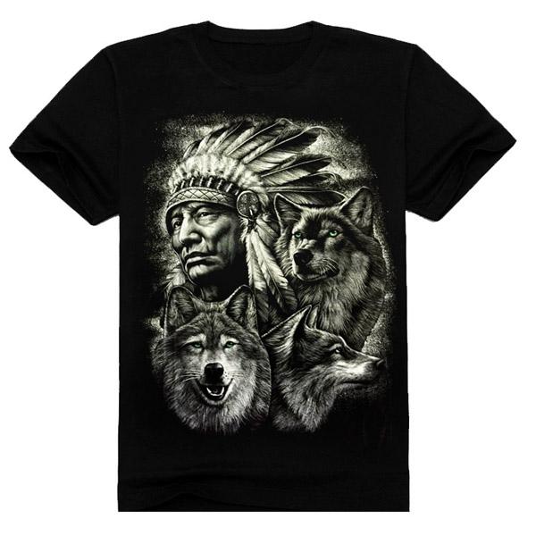 Hot Sale Black 3D Printing T-Shirt