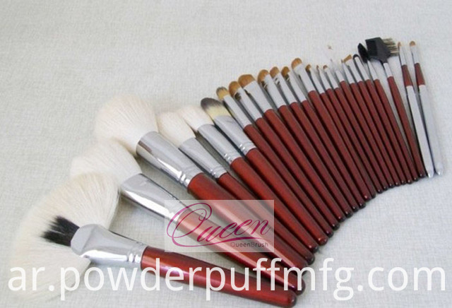 Wooden 24PCS Goat Hair Professional Makeup Brush Tool Kits