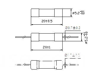 Ceramic Tube Fuse Time-Lag Axial Lead 5X20 mm