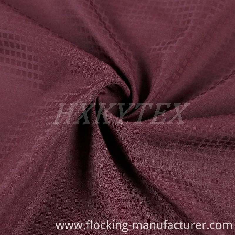 Walf Checks Jacquard Polyester Fabric for Casual Jackets