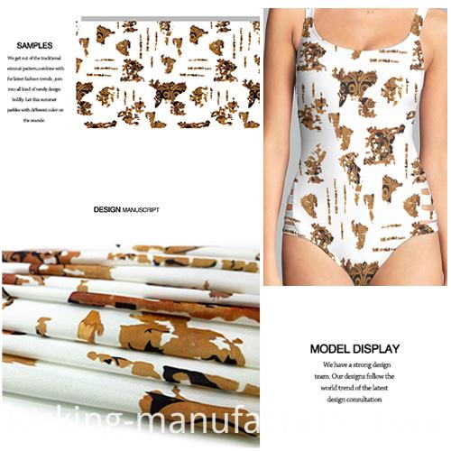 Polyester Spandex New Trend Printed Swimwear Fabric