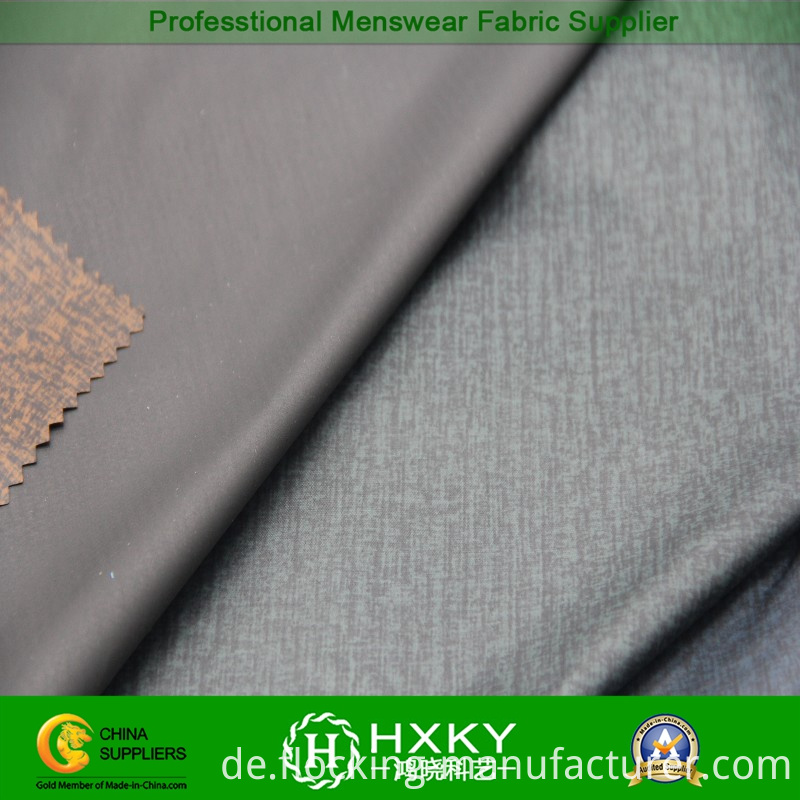 New Design Polyester Taffeta Fabric with Embossed for Men's Casual Jacket