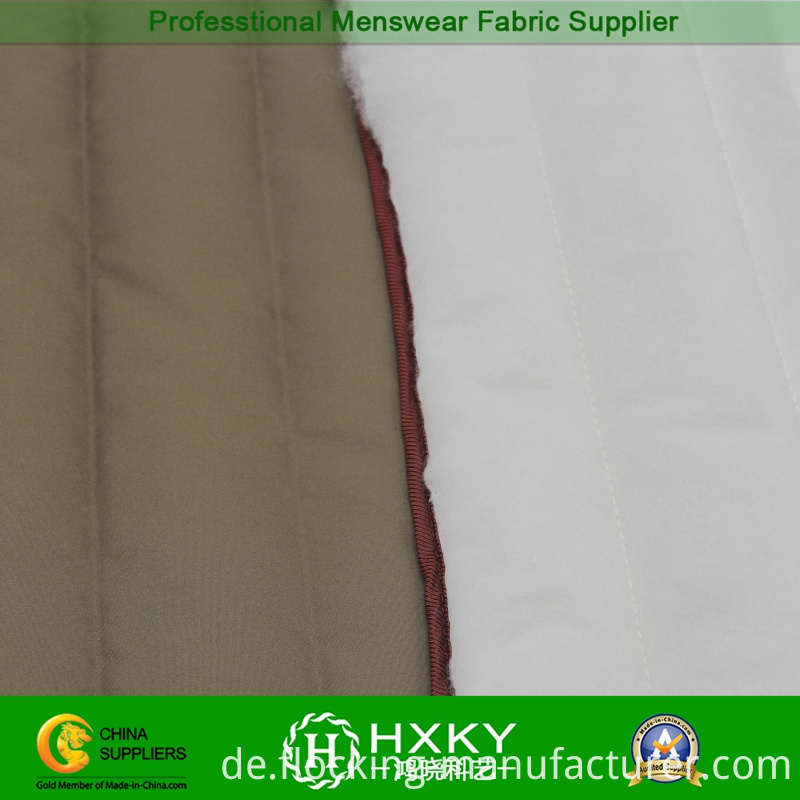 30d Compound Polyester Fabric with Strip Stitch for Quilted Jacket