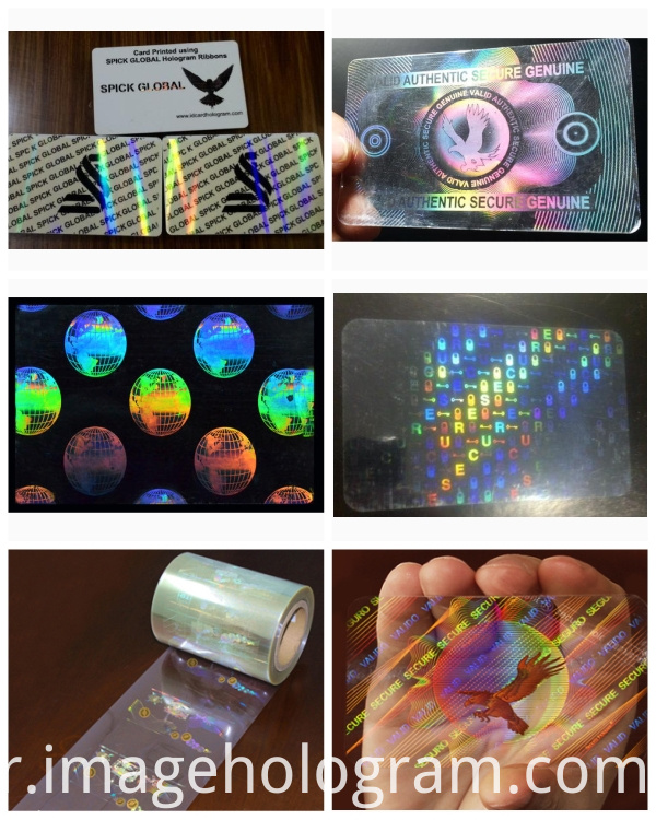 Transparent Hologram Overlay Pouch for ID Card