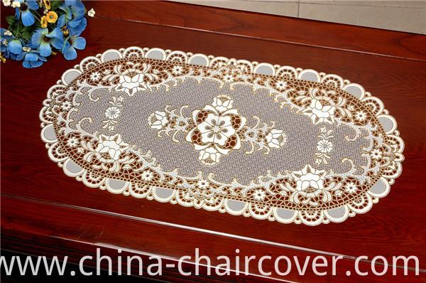 40*84cm PVC Vinyl Lace Gold Placemat