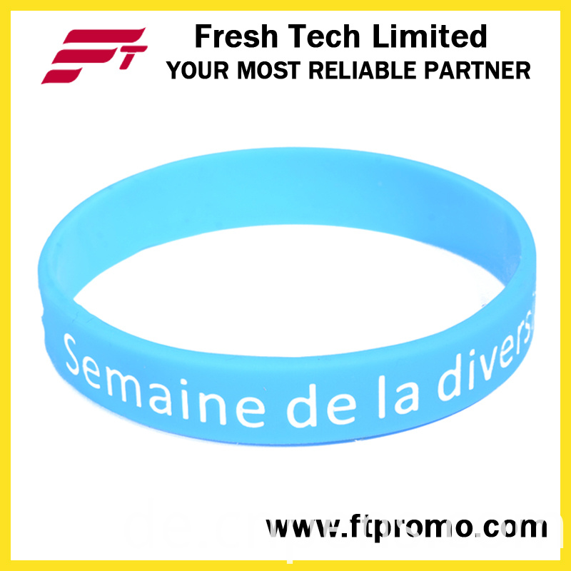 Fashion Promotional Eco-Friendly Silicone Wristband