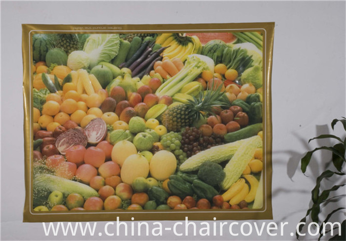 New Independent Design LFGB Transparent Printed Tablecloth 120*152cm (TZ0007)