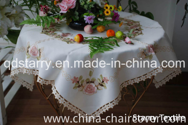 Rose Embroidery Table Clothes Fh-55