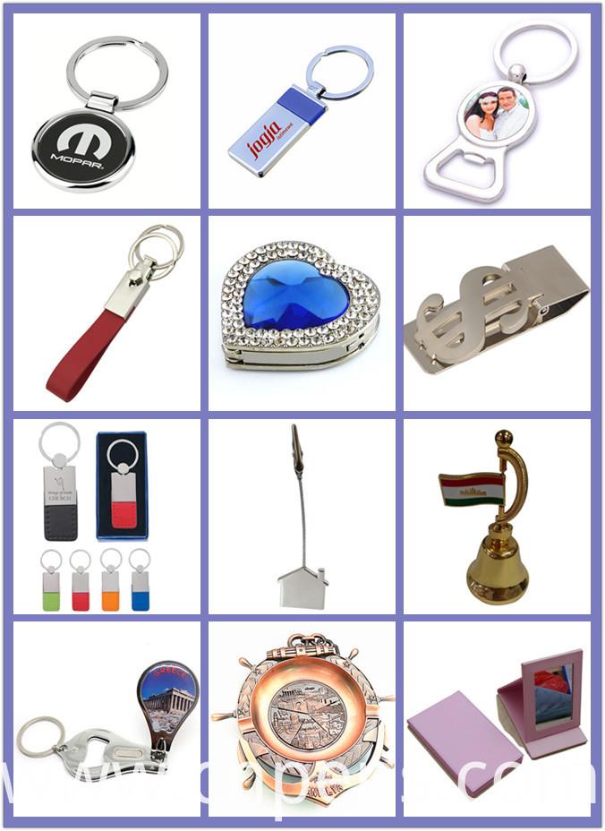 Metal Souvenir Custom Imprint Printing Logo Enamel Key Chain (F1136)