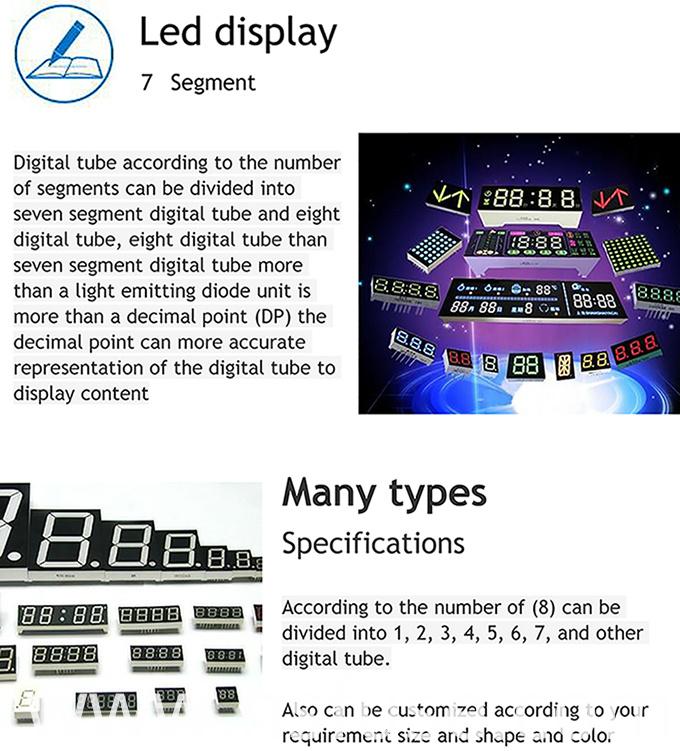 Good Quality 0.56 Inches 7 Segment LED Display Custom LED Display