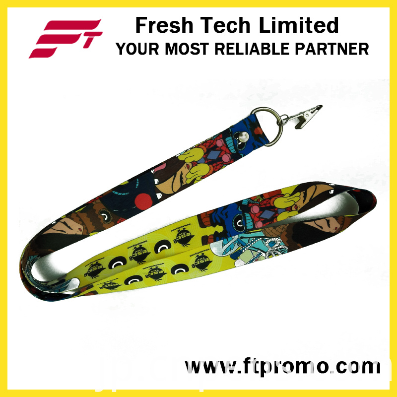 Cartoon Style Promotional Polyester Lanyard with Logo Design