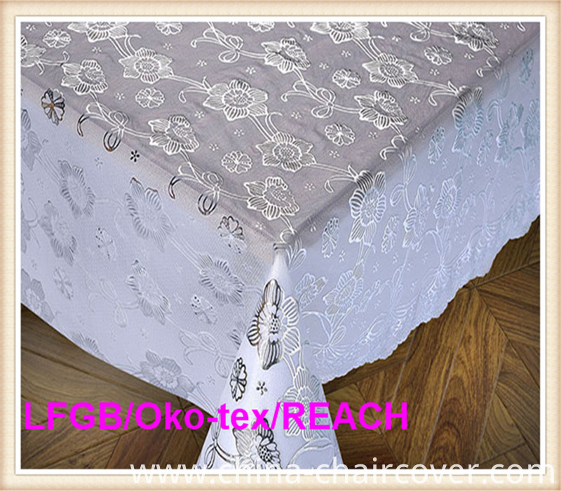 PVC Lace Gold Table Cloth in Roll Hot Sale (JFBD-003)