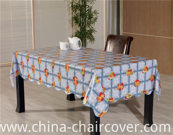 High Quality PVC Printed Tablecover with Backing