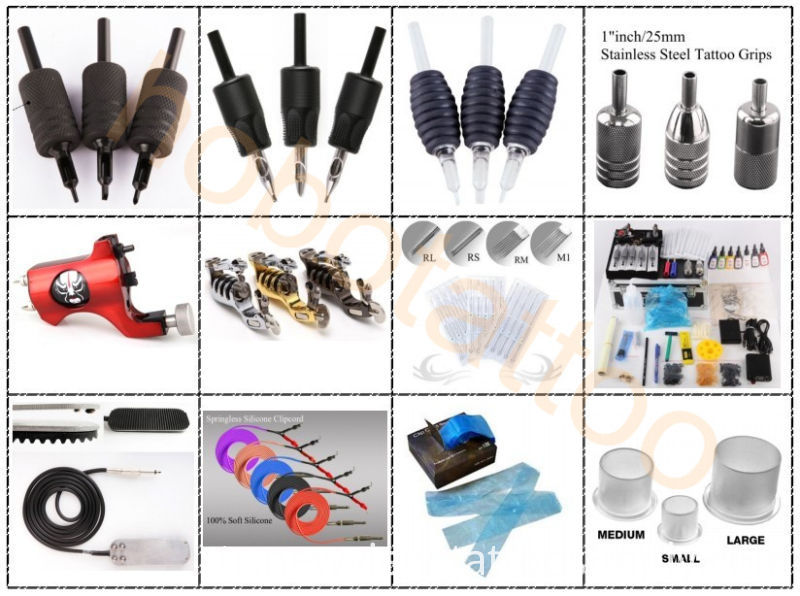 Tattoo Supplies - Hot Stainless Steel Tattoo Grips (16mm, 19mm, 22mm, 25mm, 30mm available)