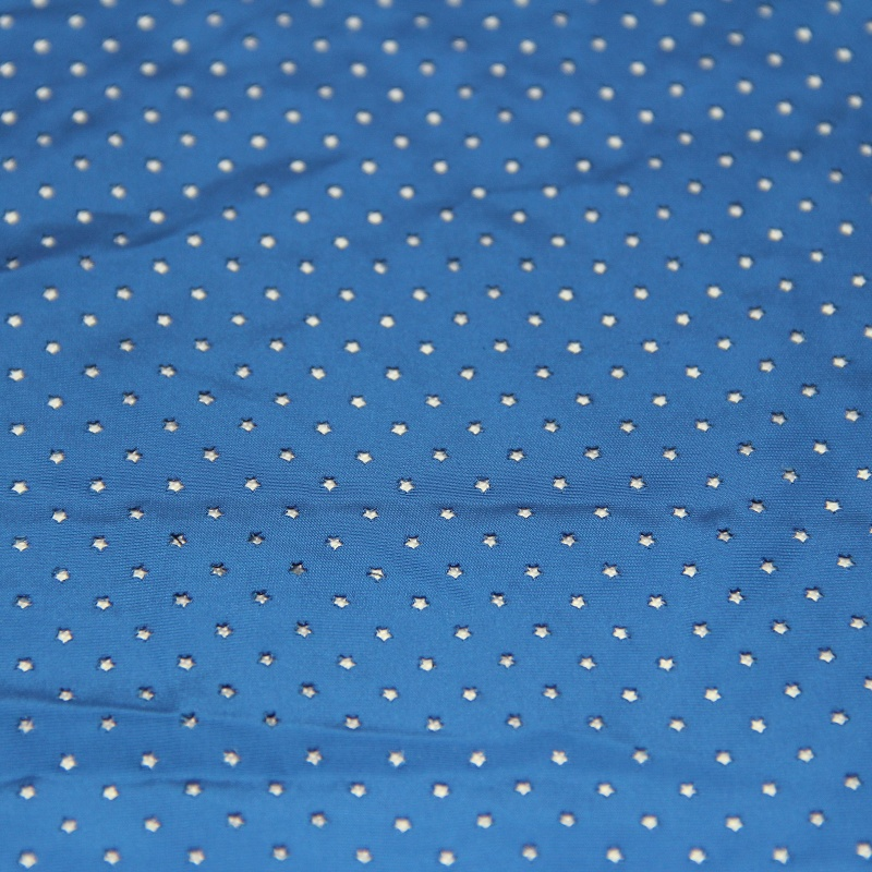 Woven Polyester Memory Fabric with Mesh Hole Finish