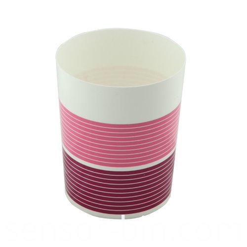 Tricolor Simple Design Living Room Plastic Waste Bin (FF-5222)