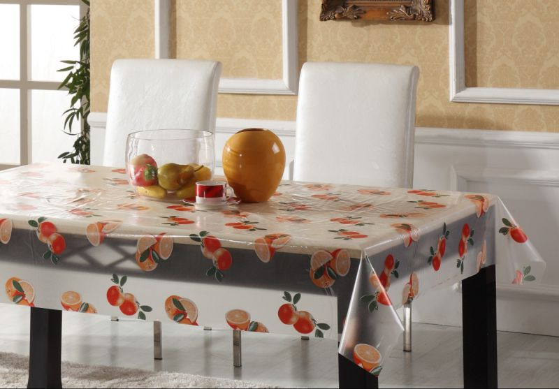 New Designs Plastic Transparent Tablecloth PVC Printed Tablecloth