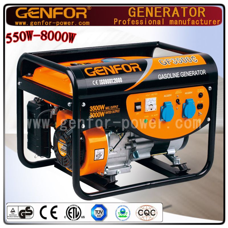 Ohv Digital Electric Portable Gasoline Generator 3kw