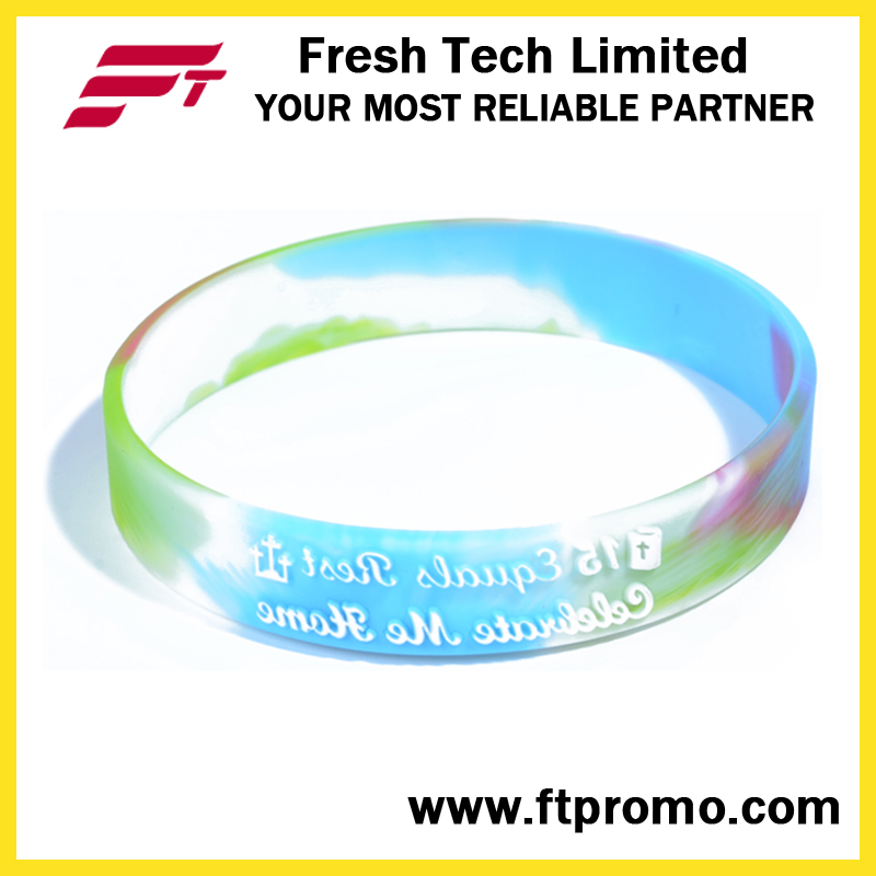 Promotional Gift Sports Silicone Wristband for Embossed