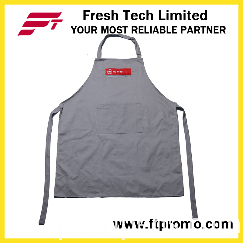 100% Polyester/Cotton OEM Custom Printing Promotional Kitchen Bib Apron