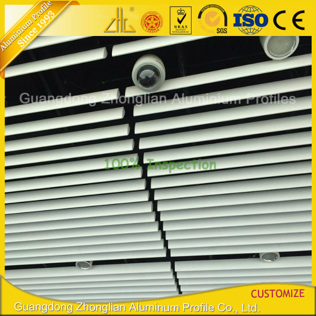 Anodized Aluminium Aluminum Louver / Shutter with Customized Colors and Sizes