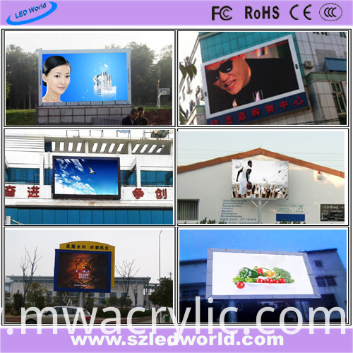 P10 SMD3535 High Brightness Outdoor Full Color LED Video Wall Screen Panel for Advertising