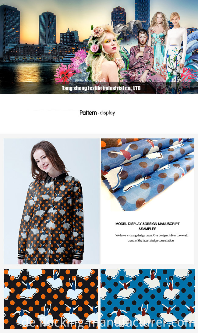 Printed Polyester Fashion Garment and Home Textile Fabric