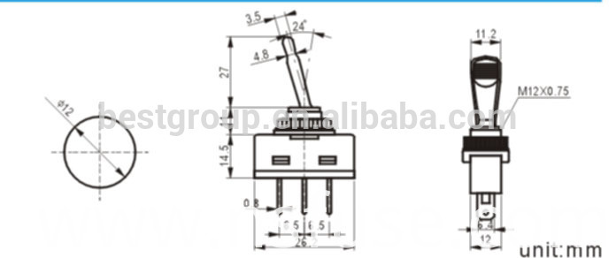 Momentary Switch Momentary Duckbill Toggle Switch (FBELE)