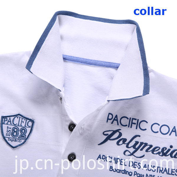 100% Cotton White Golf Pique Polo Shirt