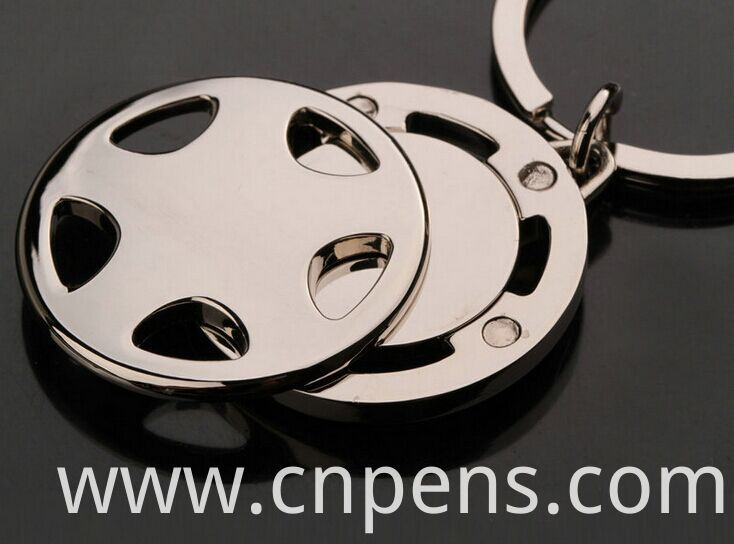 Promotional Supermarket Trolley European Coin Opener Keychain with Logo (F1293)