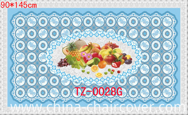 90*145cm Hot Popular PVC Printed Transparent Tablecloth of Independent Design (full color)
