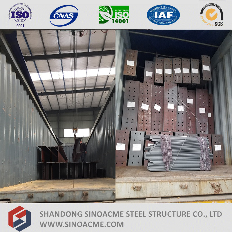 Prefab Certificated Heavy Steel Structural Building with Steelstair