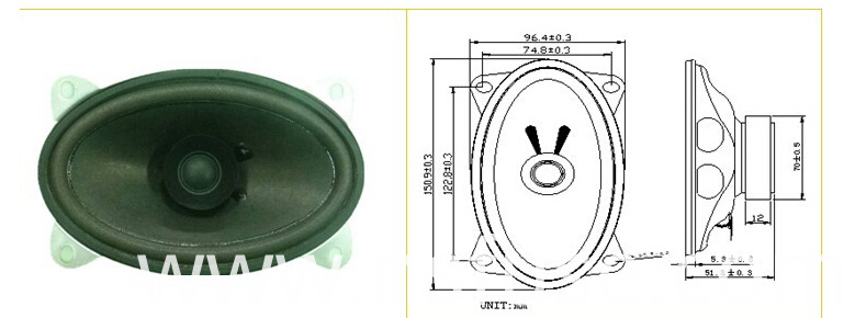 Fbs150s 23mm 38ohm 20watt Oval Shaped Micro Speaker (FBELE)