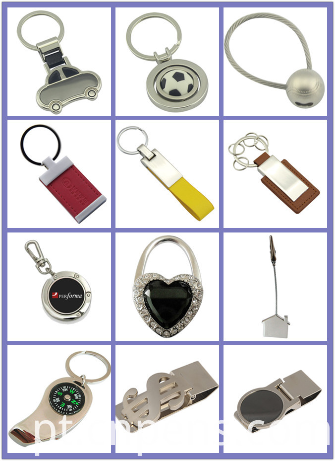 Laser Engrave Logo Metal High Quality Keychain with Silicone (F1050A)