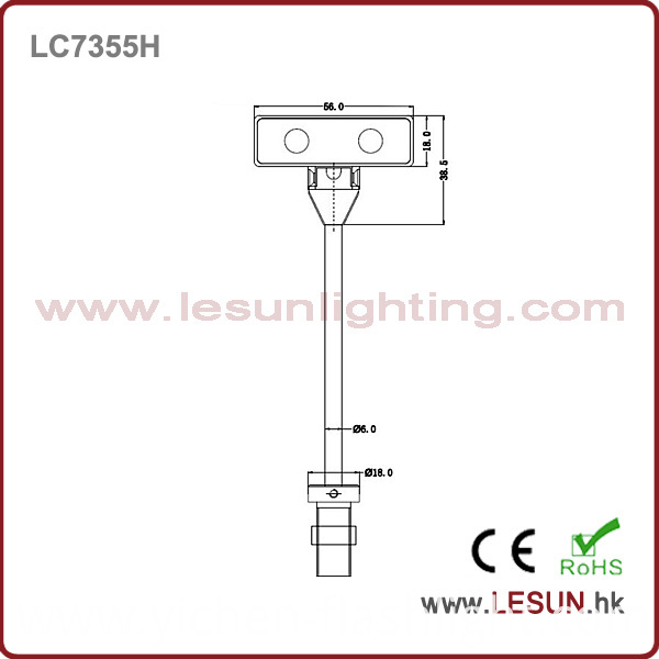2016 New Issue 2W LED Under Cabinet Light for Jewelry Lighting