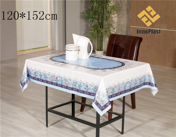 PVC Printed Landscape Transparent Table Cloth
